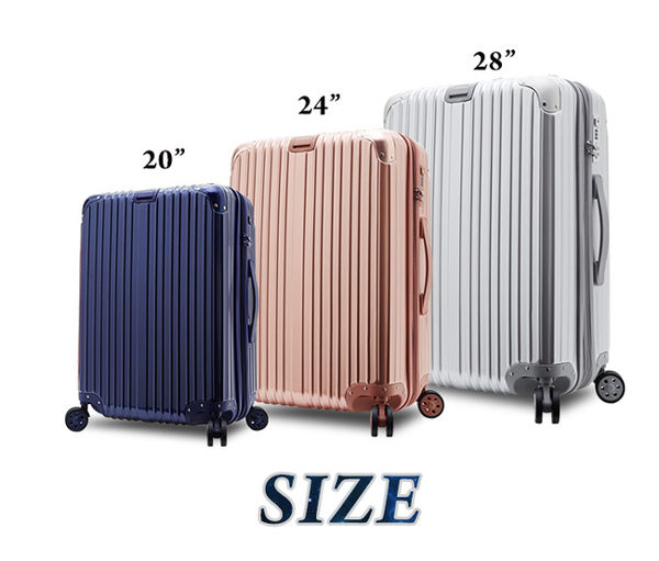 ARTBOX 沐夏星辰 PC可加大鏡面海關鎖 行李箱/旅行箱-24吋-玫瑰金