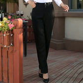 西裝褲 肯德基女式西褲工作褲酒店女士正裝西褲直筒職業女褲黑色白搭休閒 小宅女