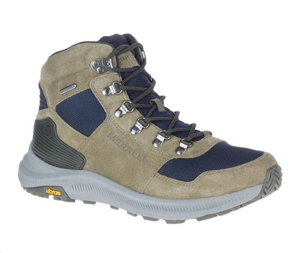 [好也戶外] Merrell MESH MID WATERPROOF 男中筒登山鞋 深橄欖綠 NO.500159