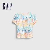 Gap男幼童 童趣印花圓領T恤 681411-棕櫚樹印花