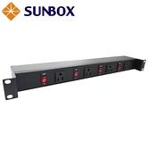 4孔15安培 帶4開關 機架型排插 (SPU-1512-04S4) SUNBOX