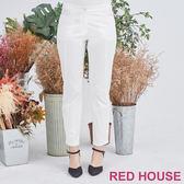 Red House 蕾赫斯-素色剪接長褲(共2色)