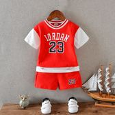 兒童夏裝男童籃球服寶寶幼兒園籃球衣小童1-3歲童裝運動短袖套裝   初見居家