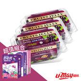 【U-May】優妹果凍 無添加系列-黑醋栗凍*3入 + 維維樂兒童喉糖(葡萄)
