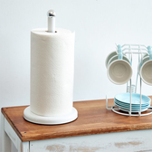 【H&R安室家】簡約桌上型紙巾架(氣質白)-KR140C