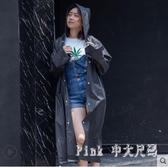 一次性雨衣成人女款單人雨披時尚戶外徒步旅游加厚透明防水服 JY7748【Pink中大尺碼】