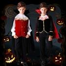 萬圣節兒童服裝男童吸血鬼幼兒園cos衣服披風套裝恐怖王子伯爵女 解憂