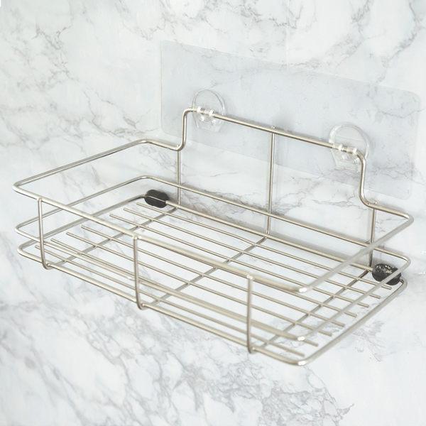 收納架 無痕貼 免安裝 衛浴置物架【C0063】peachylife霧面304不鏽鋼洗衣粉架 MIT台灣製 完美主義