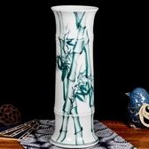 手繪水培富貴竹落地花瓶插花器客廳家居裝飾品擺件 莎瓦迪卡