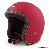 M2R 307 素色款 復古安全帽 消光桃紅