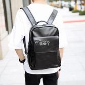 新款韓版背包 休閒商務公文雙肩包 時尚潮流皮質書包百搭電腦包 俏腳丫
