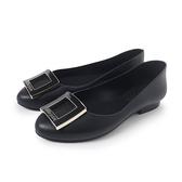 Petite Jolie 經典方扣果凍娃娃鞋-黑色