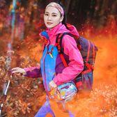 戶外衝鋒衣女加絨加厚棉服三合一冬季兩件套內膽可拆卸秋冬季登山外套