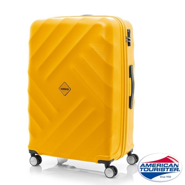 AT美國旅行者 24吋Gravity重力系列防刮飛機輪TSA行李箱(黃)