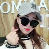 太陽鏡女潮圓臉顯瘦大臉新款防紫外線網紅墨鏡女街拍韓版 QQ3614『MG大尺碼』