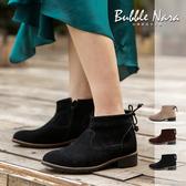 防潑水 繃啾龐畢度牛皮短靴。波波娜拉 Bubble Nara。雨天可穿真皮靴 IB2001