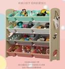 多層儲物置物架收納架 實木寶寶書架繪本架整理櫃 兒童玩具 「時尚彩紅屋」