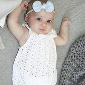 夏季新款嬰兒連體衣女寶寶純棉鏤空爬服~