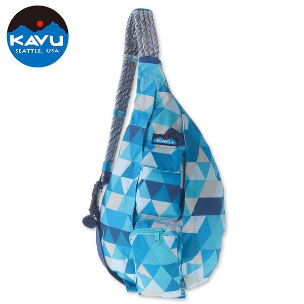 【西雅圖 KAVU】Rope Sling 休閒時尚肩背包 藍色時尚 #944
