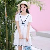 夏季新款韓版女大童夏裝連身裙12-13-15歲女童公主裙女孩洋氣裙子 至簡元素