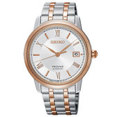 【僾瑪精品】SEIKO 精工 Presage 經典機械錶-玫瑰金x銀/4R35-02J0KS(SRPC06J1)