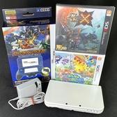【NEW N3DSLL主機】95新NEW 3DS LL 日規 珍珠白+魔物獵人X+充電器 【中古二手】台中星光