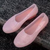 女士水鞋雨靴廚師廚房工作低幫短筒 防水防滑防污雨鞋 XY262 【KIKIKOKO】