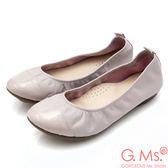 G.Ms. MIT系列-素面漆皮拼接牛皮娃娃鞋*淡粉紫
