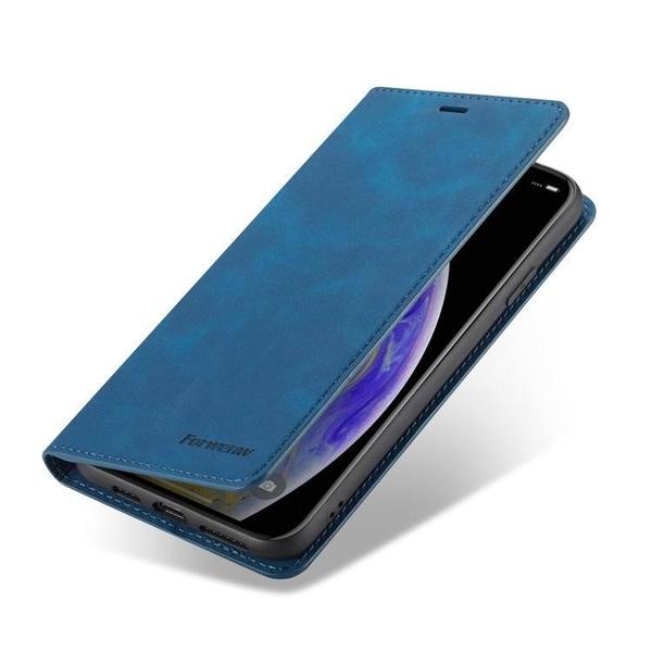 瘋馬紋防摔插卡保護套 商務皮套蘋果手機殼 支架款蘋果Xs 7/8 手機套IPhone11/XR X/XsMax簡約翻蓋手機殼