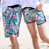 海灘褲 黑白紅花鬆緊腰運動短褲沙灘褲【MN9017-4】 ENTER  03/16