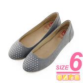 6號-超零碼Paidal 典雅水鑽娃娃鞋