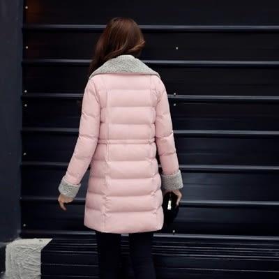 羽絨外套 中長款-韓版修身顯瘦保暖女夾克3色73it195[時尚巴黎]