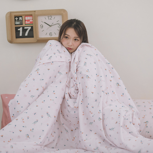 依比花園 Q2雙人加大床包薄被套四件組 100%精梳棉 台灣製 棉床本舖