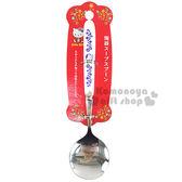 〔小禮堂〕Hello Kitty 陶瓷不鏽鋼湯匙《大.白.大臉.花.圓型》可愛又實用 4991203-17027