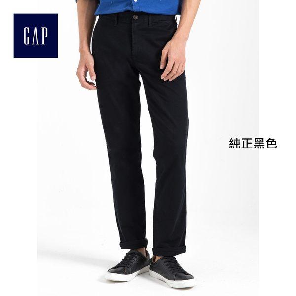 Gap男裝 經典彈力中腰直筒男士卡其褲 棉質休閒長褲男 792190