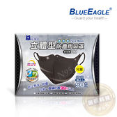 【醫碩科技】藍鷹牌NP-3DSBK台灣製兒童立體黑色防塵口罩/口罩/立體口罩 超高防塵率 50入/盒