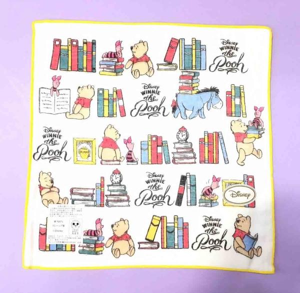 【震撼精品百貨】Winnie the Pooh 小熊維尼~紗布手帕~白色#25231