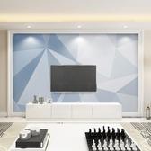 電視背景墻北歐電視背景墻壁紙簡約現代客廳臥室墻紙8d幾何裝飾壁畫影視墻布   汪喵百貨