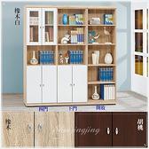 【水晶晶家具/傢俱首選】CX1481-123 安寶6 x 6呎耐磨低甲全木心板書櫃三件全組~~三色可選~~可拆售