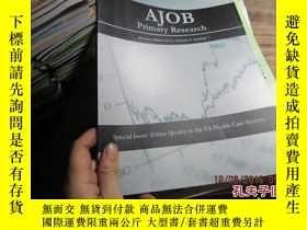 二手書博民逛書店ajob罕見primary research january-m