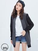 【2%】2% 蕾絲拼接袖長版外套-灰