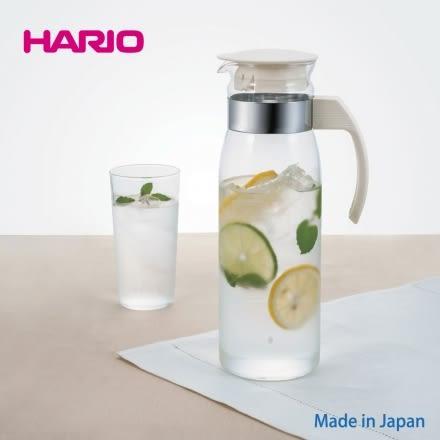 【日本HARIO】高質感耐熱玻璃冷水壺 1400ml (白色)‧日本製