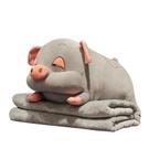 可愛靠枕 可愛豬睡覺夾腿抱枕被子兩用臥室床頭床上大靠墊長條枕頭圓柱靠枕X【快速出貨】