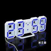 (萬聖節鉅惠)電子鬧鐘日正韓數碼電子鬧鐘錶客廳臥室數字時鐘led電子台鐘靜音客廳擺件
