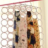 【天天特價】多功能彩色藤編圍巾架可折疊28環圈圈絲巾架腰帶掛架b