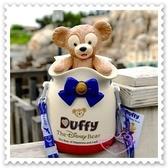♥小花花日本精品♥《Disney》迪士尼 達菲熊 大蝴蝶結 收納桶 爆米花桶 日本東京迪士尼 海洋限定