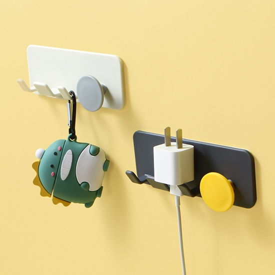 掛勾 插頭掛架 插頭掛鉤 手機架 手機充電架 收納架 支架 名片架 插頭線材壁掛架【N268】慢思行