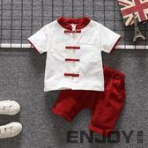 兒童國學服漢服 男童唐裝短袖棉麻童裝