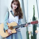 吉他 初學者吉他男女學生練習民謠吉他41寸38寸木吉它新手入門通用樂器T 2色 雙12提前購