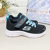 《7+1童鞋》中童 SKECHERS 302450LBKTQ 輕量 慢跑鞋 運動鞋 電燈鞋 D928 黑色